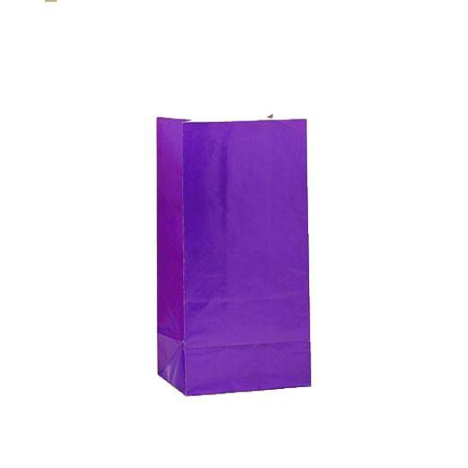 Mardi Gras Gift Bags & Paper Purple Paper Sacks Image