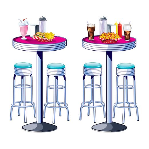 Fifties Decorations Tables and Stools Props Image