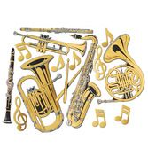 Fifties Decorations Musical Instruments Image