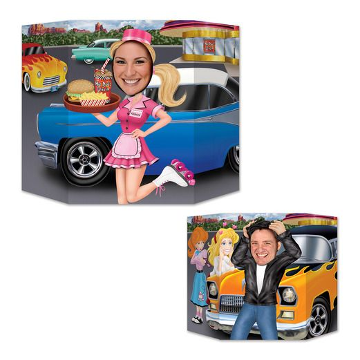 Fifties Decorations Car Hop / Greaser Photo Prop Image