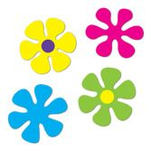 60s & 70s Decorations Retro Flower Cutouts Image