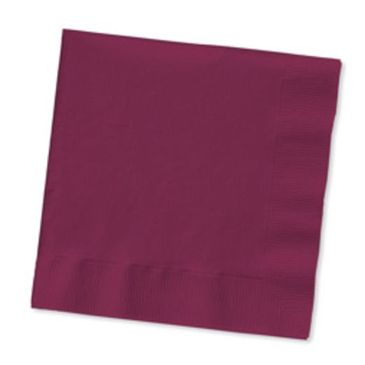 Table Accessories Burgundy Beverage Napkins Image