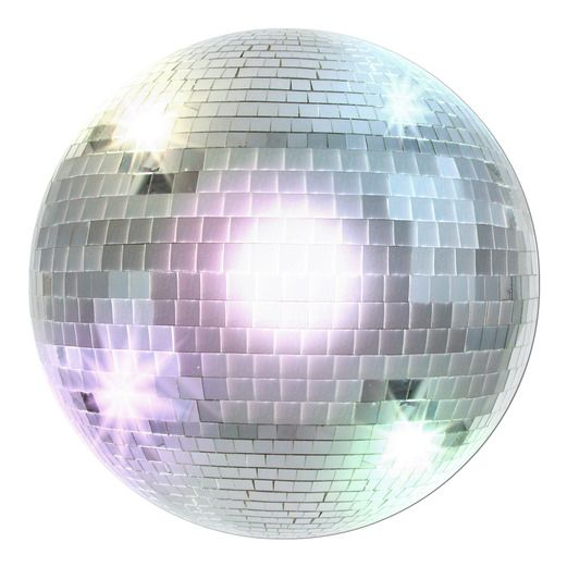 60s & 70s Decorations Disco Ball Cutout Image