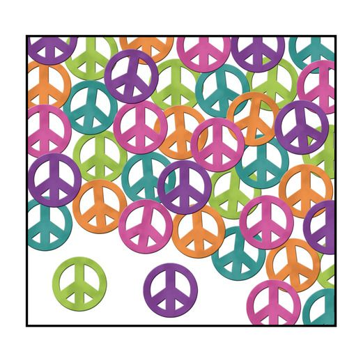 60s & 70s Decorations Peace Sign Confetti Image