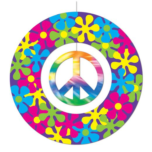 60s & 70s Decorations Peace Sign Mobile Image