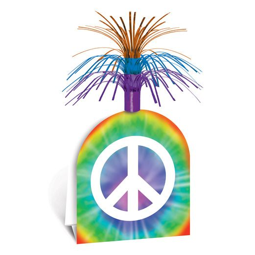 60s & 70s Decorations Peace Sign Centerpiece Image