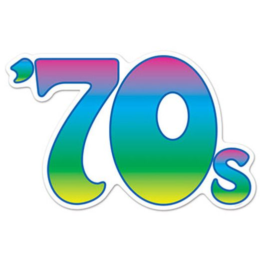 60s & 70s Decorations 70s Cutout Image