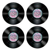 Fifties Decorations Record Cutouts Image