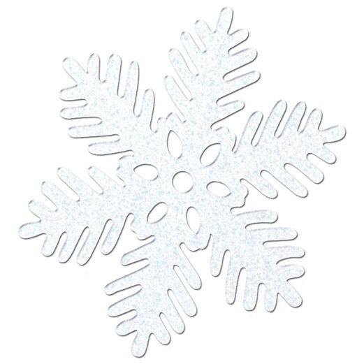 "Christmas Decorations Sparkle Snowflakes (6"") Image"