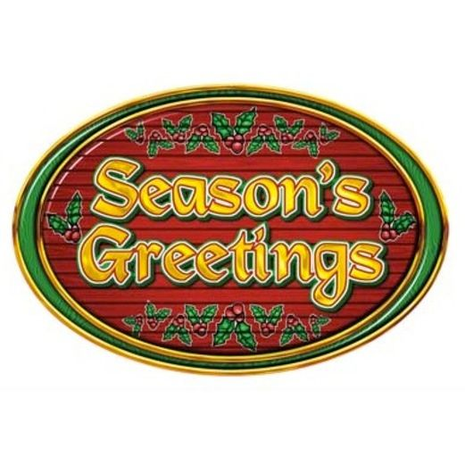 Christmas Decorations Season's Greetings Sign Image