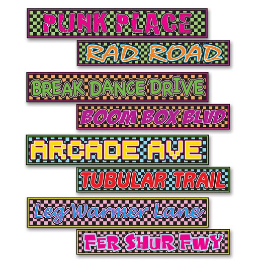 80s Decorations 80s Street Signs Cutouts Image