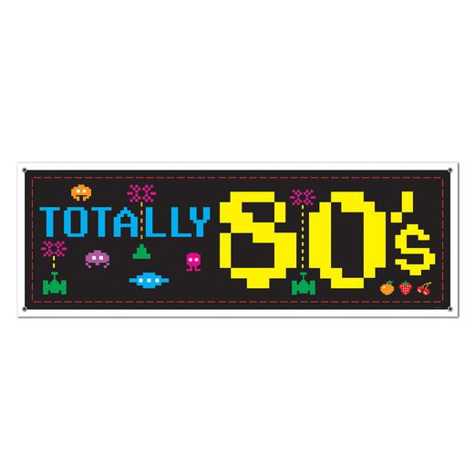 80s Decorations 80's Sign Banner Image