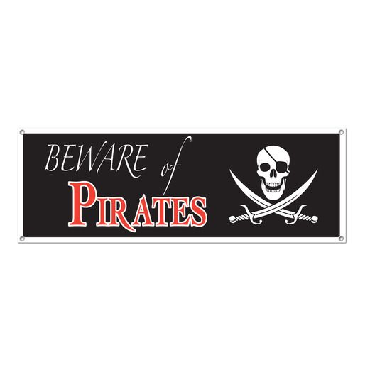Pirates Decorations Pirate Sign Banner Image
