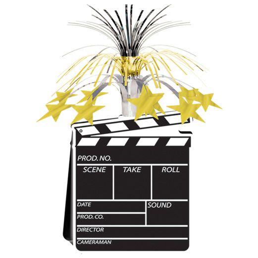Awards Night & Hollywood Decorations Movie Set Clapboard Centerpiece Image