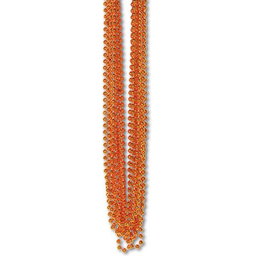 Halloween Party Wear Orange Metallic Bead Necklaces Image