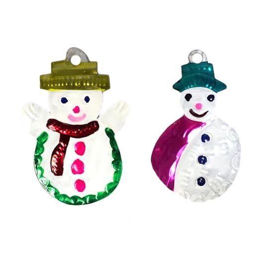 Christmas Decorations Snowman Tin Ornament Image