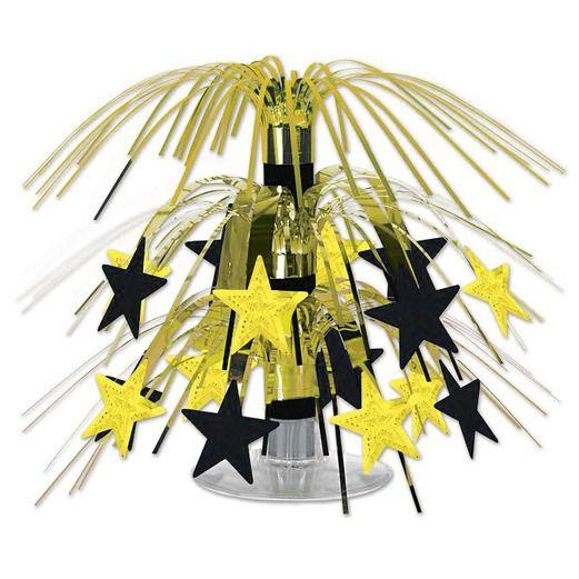 Black and Gold Star Mini Cascade Centerpiece