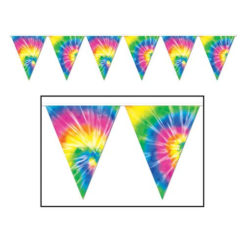 Tie Dyed Pennant Banner