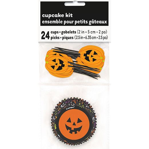 Halloween Table Accessories Pumpkin Cupcake Kit Image