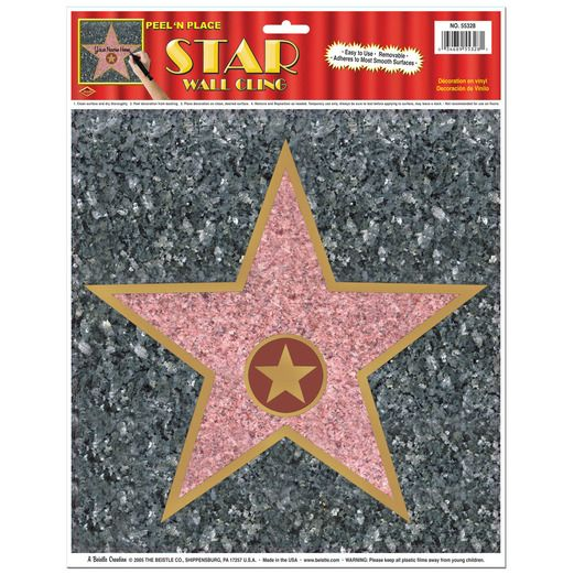 Awards Night & Hollywood Decorations Star Peel 'n Place Image