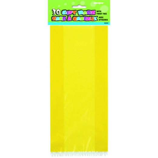 Easter Gift Bags & Paper Yellow Cello Bags Image