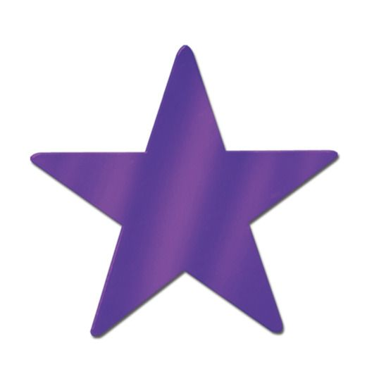 "Mardi Gras Decorations 12"" Purple Foil Star Image"
