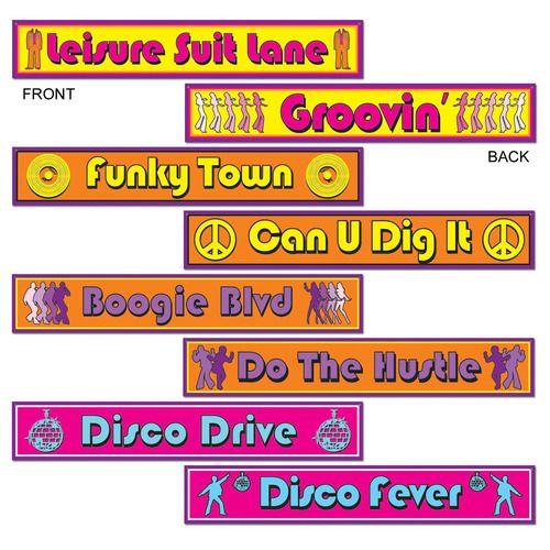 Disco Street Sign Cutouts