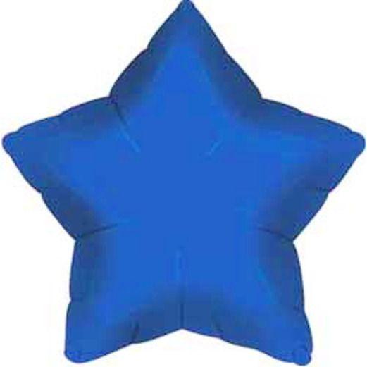 New Years Balloons Blue Star Mylar Balloon Image