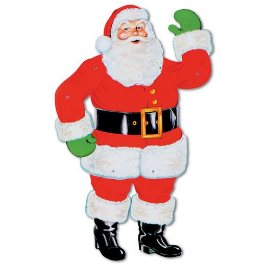 "Christmas Decorations Jointed Santa 29"" Image"