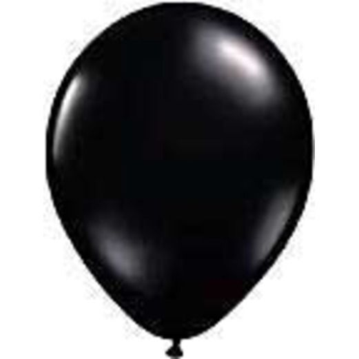 "Halloween Balloons 11"" Black Balloons Image"