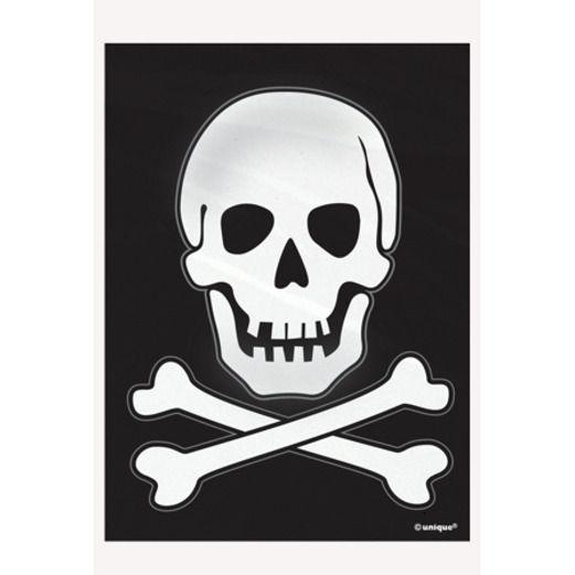 Halloween Gift Bags & Paper Skeleton Treat Bags Image