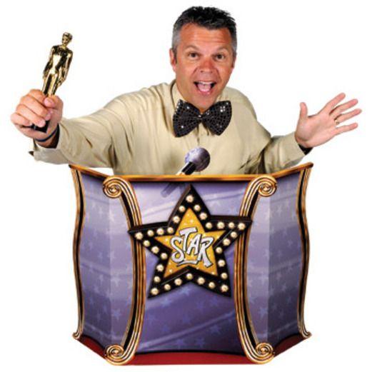 Awards Night & Hollywood Decorations Podium Stand-Up Image
