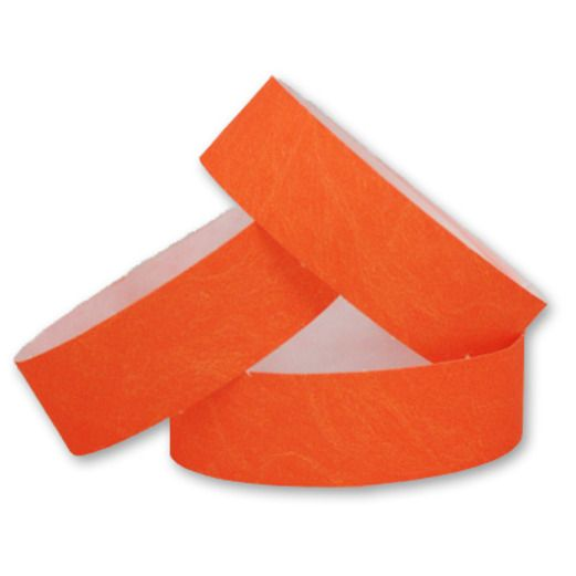 WB Tyvek Wristbands Orange Image