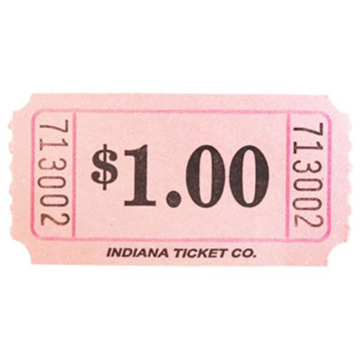 Tickets & Wristbands Pink Dollar Ticket Roll Image