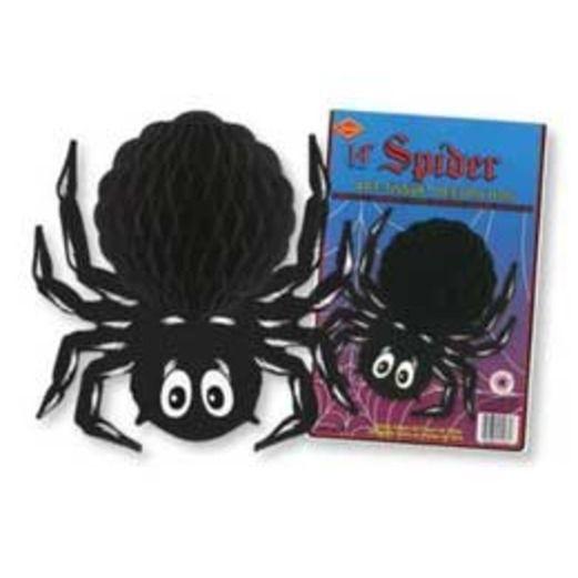 Halloween Black Tissue Spider Image
