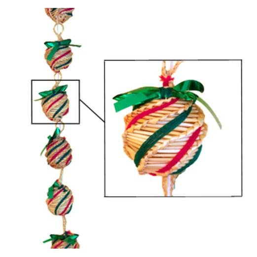 Christmas Decorations Wicker Ornament Garland Image