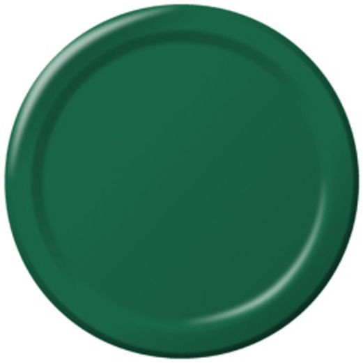Mardi Gras Table Accessories Hunter Green Dinner Plates Image
