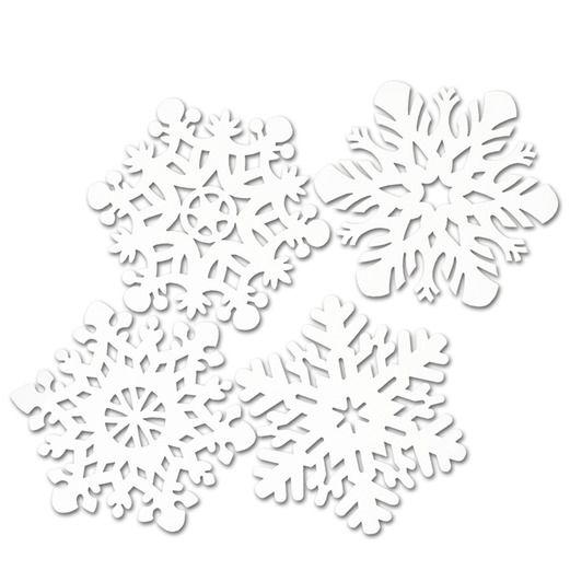 Die-Cut Snowflake Cutouts
