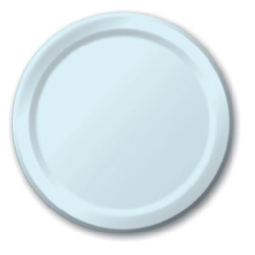 Baby Shower Table Accessories Light Blue Dinner Plates Image