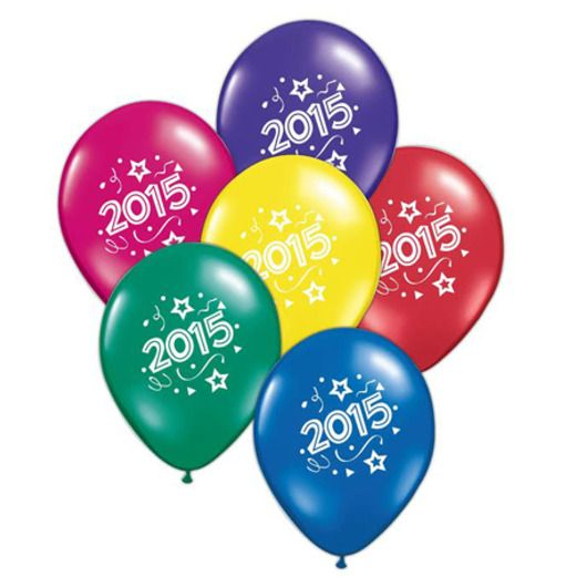 Graduation Balloons 2015 Jewel Tone Balloons Image