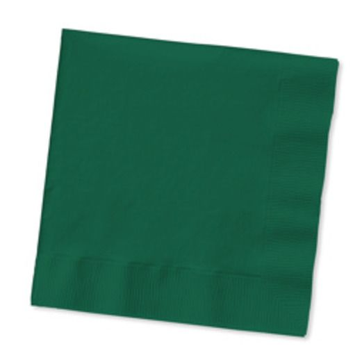 Mardi Gras Table Accessories Hunter Green Beverage Napkins Image
