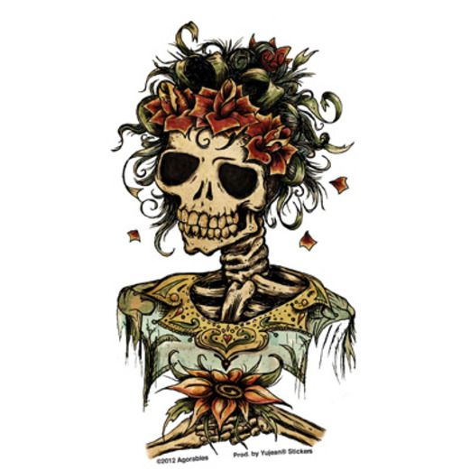 Day of the Dead Favors & Prizes Day of the Dead Bride Sticker Image