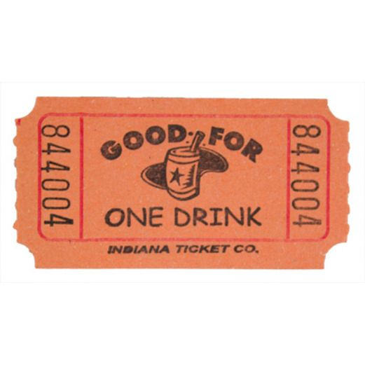 Tickets & Wristbands Orange Drink Ticket Roll Image