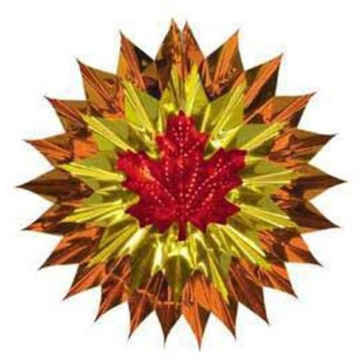 Thanksgiving Decorations Fall Leaf Fan Burst Image
