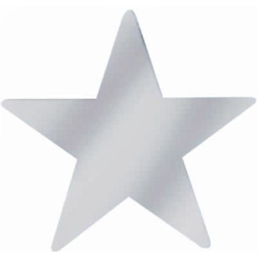 "New Years Decorations 15"" Silver Foil Star Image"