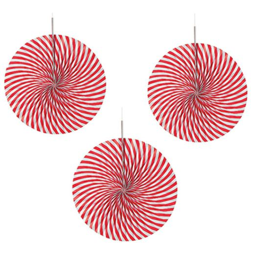 Christmas Decorations Peppermint Fans Image