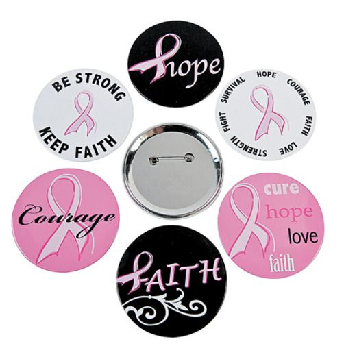 Favors & Prizes Breast Cancer Awareness Buttons Image