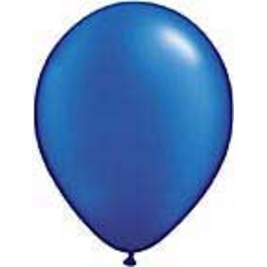 """4th of July Balloons 11"""" Pearl Sapphire Blue Balloons Image"""