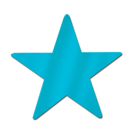 """9"""" Turquoise Foil Star"""