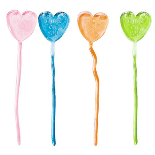 Valentine's Day Favors & Prizes Sticky Hearts Image